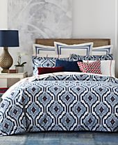CLOSEOUT! Tommy Hilfiger Home Ellis Island Ikat Bedding Collection