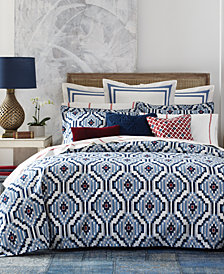 CLOSEOUT! Tommy Hilfiger Ellis Island Ikat King Duvet Set