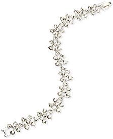 Anne Klein Silver-Tone Linked Crystal Bracelet