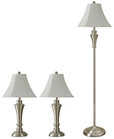StyleCraft Kadian Set of 3: 2 Table Lamps and 1 Floor Lamp