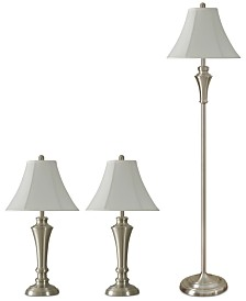 Kadian Set of 3: 2 Table Lamps and 1 Floor Lamp