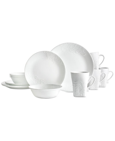 Corelle 16-Pc. Boutique Cherish Round Dinnerware Set