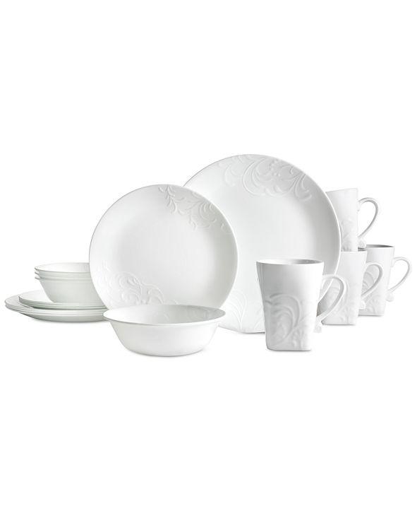 Corelle 42-Pc. Boutique Cherish Round Dinnerware Set