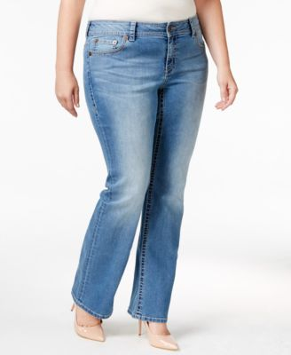 American Rag Trendy Plus Size Starling Wash Bootcut Jeans, Only at Macy's