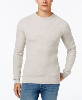 Cutter & Buck Men's Big & Tall Benson Waffle-Knit Sweater