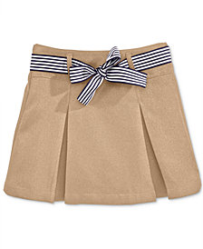 Nautica School Uniform Contrast-Ribbon Scooter Skirt, Big Girls Plus