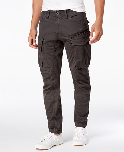 G-Star RAW Men's Rovic 3D Slim-Fit Tapered Cargo Pants - Pants ...