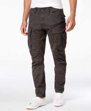 Men's Steampunk Pants & Trousers G-Star Raw Mens Rovic 3D Straight Tapered Fit Cargo Pants $140.00 AT vintagedancer.com