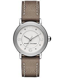 Marc Jacobs Women's Riley Cement Leather Strap Watch 28mm