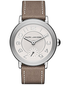 Marc Jacobs Women's Riley Cement Leather Strap Watch 36mm