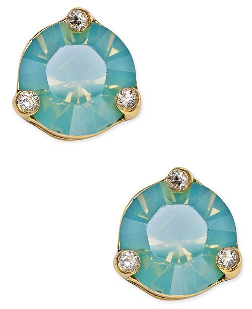 c94f137765f6e kate spade new york Rise and Shine Gold-Tone Crystal Stud Earrings ...