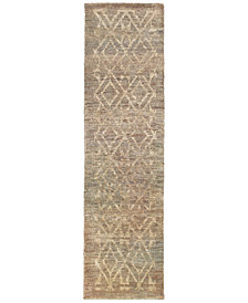 "Tommy Bahama Home Ansley Jute 50907 Beige 2' 6"" x 10' Runner Area Rug"