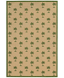 "Tommy Bahama Home Seaside Indoor/Outdoor 7126G Beige/Green 5' 3"" x 7' 6"" Area Rug"