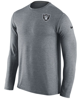 Mens Hooded Long  new high quality 00517 2f0ad Nike Mens Oakland Raiders Dri -FIT Touch Long Sleeve T ... b90dab144