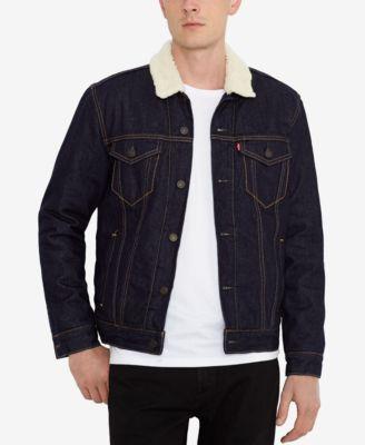 Levi's men's denim trucker jacket indigo