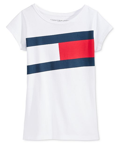 c790f8084 Tommy Hilfiger Big Girls Flag Tee   Reviews - Shirts   Tees - Kids ...