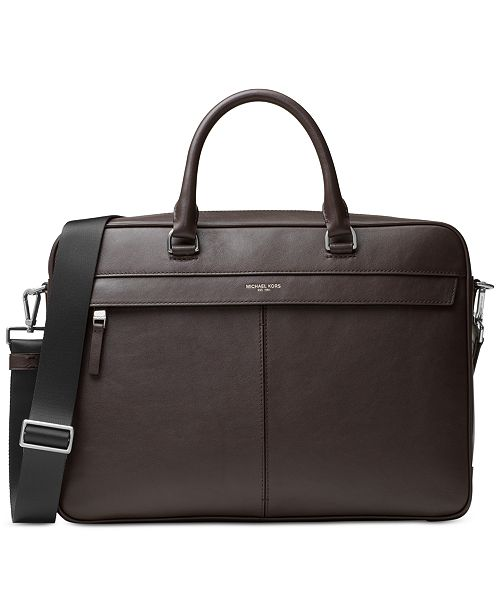1429716a9a46 Michael Kors Men's Odin Resina Large Briefcase & Reviews - Bags ...