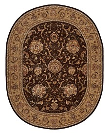 "2000 2206 Brown 7'6"" x 9'6"" Oval Rug"