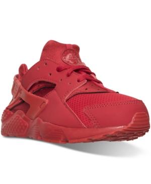Nike LITTLE BOYS' HUARACHE RUN RUNNING SNEAKERS FROM FINISH LINE