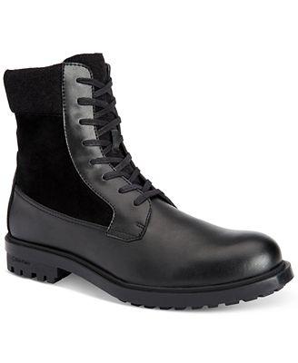 Calvin Klein Men\'s Gable Leather Casual Boots - All Men\'s Shoes ...