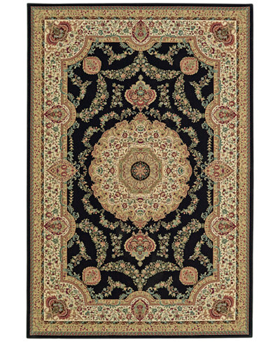 CLOSEOUT! D Style Beacon BEA8021 Black Area Rugs