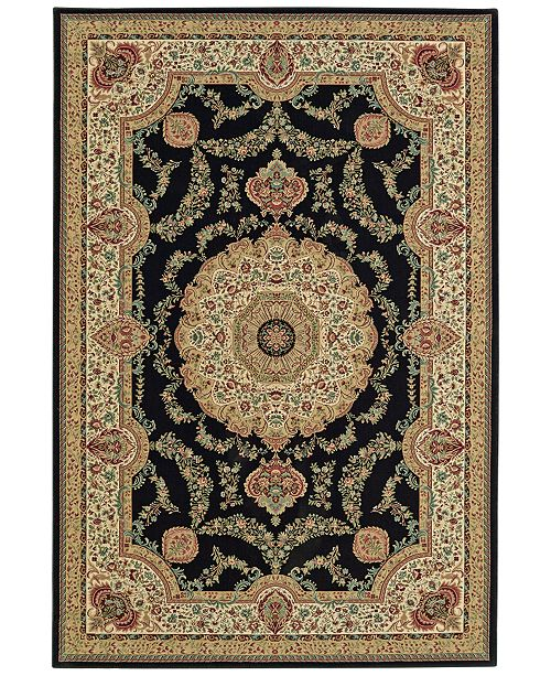 "D Style CLOSEOUT! Beacon BEA8021 Black 5'3"" x 7'7"" Area Rug"