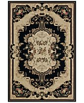 CLOSEOUT! D Style Beacon BEA4 Black Area Rugs