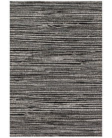 "Loloi Emory EB-02 Grey/Black 2'5""x7'7"" Runner Area Rug"