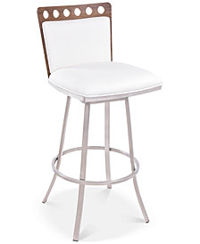 """Coco 26"""" Bar Stool Brushed Steel, Quick Ship"""
