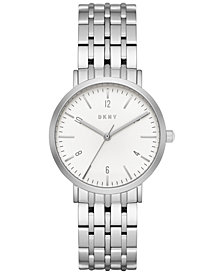 DKNY Women's Minetta Stainless Steel Bracelet Watch 36mm, Created for Macy's