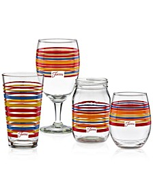 Scarlet Stripe Glassware Collection, Created for Macy's