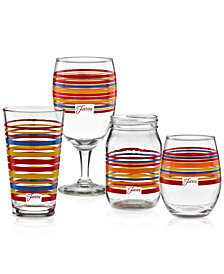Fiesta Scarlet Stripe Glassware Collection, Created for Macy's