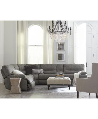 Liam Fabric Power Reclining Sectional Sofa Collection Created for Macyu0027s  sc 1 st  Macyu0027s & Liam 6-pc Fabric Sectional Sofa with Console and 3 Power Recliners ... islam-shia.org