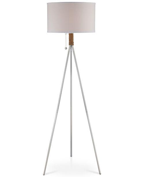 Lite Source Fluorescent Silver Rope Floor Lamp
