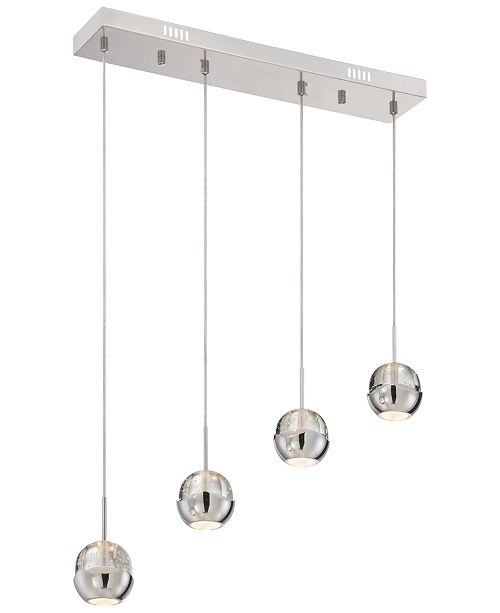 Lite Source Chrome Multi-Pendant Light