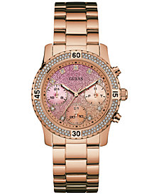 GUESS Women's Rose Gold-Tone Stainless Steel Bracelet Watch 37mm U0774L3