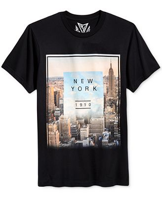 Univibe Men's New York Clouded T-Shirt