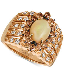 Le Vian® Chocolatier Opal (1-1/5 ct. t.w.) and Diamond (1 ct. t.w.) Statement Ring in 14k Rose Gold, Created for Macy's