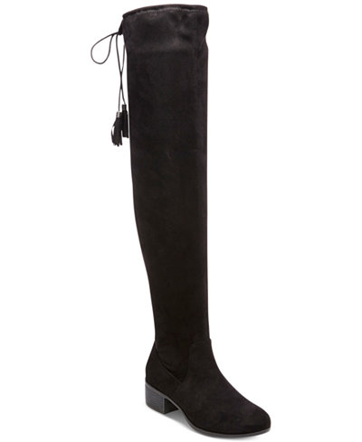 Madden Girl Prissley Over-The-Knee Tassel Stretch Boots - Boots ...