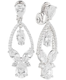 Multi-Crystal and Pavé Orbital Drop E-Z Comfort Clip-On Earrings