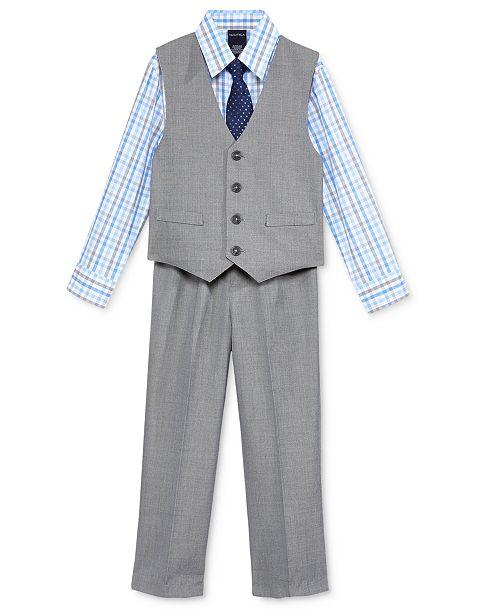 c1fbe3d79 Nautica 3-Pc. Sharkskin Vest, Shirt & Pants Set, Toddler Boys ...