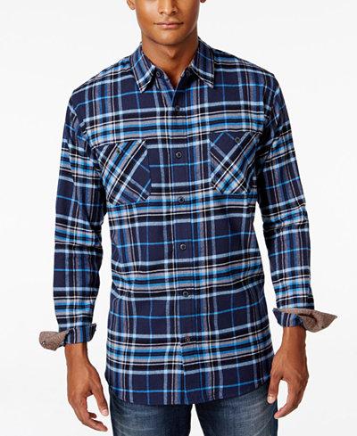Weatherproof vintage men 39 s big and tall plaid flannel for Weatherproof vintage men s lightweight flannel shirt