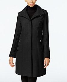 Kenneth Cole Wool-Blend Seamed Walker Coat