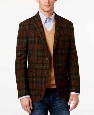 Lauren Ralph Lauren Men's Classic-Fit Plaid Wool Sport Coat ...