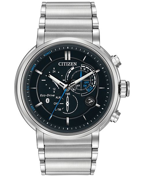 Citizen Men's Chronograph Proximity Stainless Steel Bracelet Smartwatch 46mm BZ1000-54E