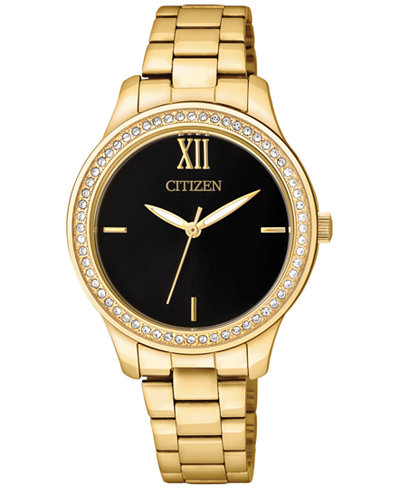 Citizen Women's Gold-Tone Stainless Steel Bracelet Watch 32mm EL3088-59E