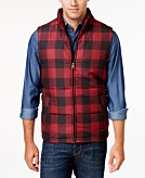Weatherproof Vintage Mens Plaid Puffer Vest Classic Fit
