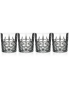 Marquis by Waterford Brady 4-Pc. Double Old Fashioned Glass Set