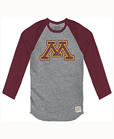 Retro Brand Men's Minnesota Golden Gophers Color Block Long Sleeve T-Shirt
