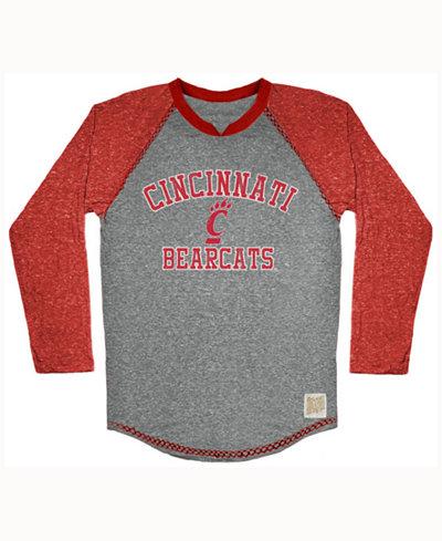 Retro Brand Men's Cincinnati Bearcats Color Block Long Sleeve T-Shirt